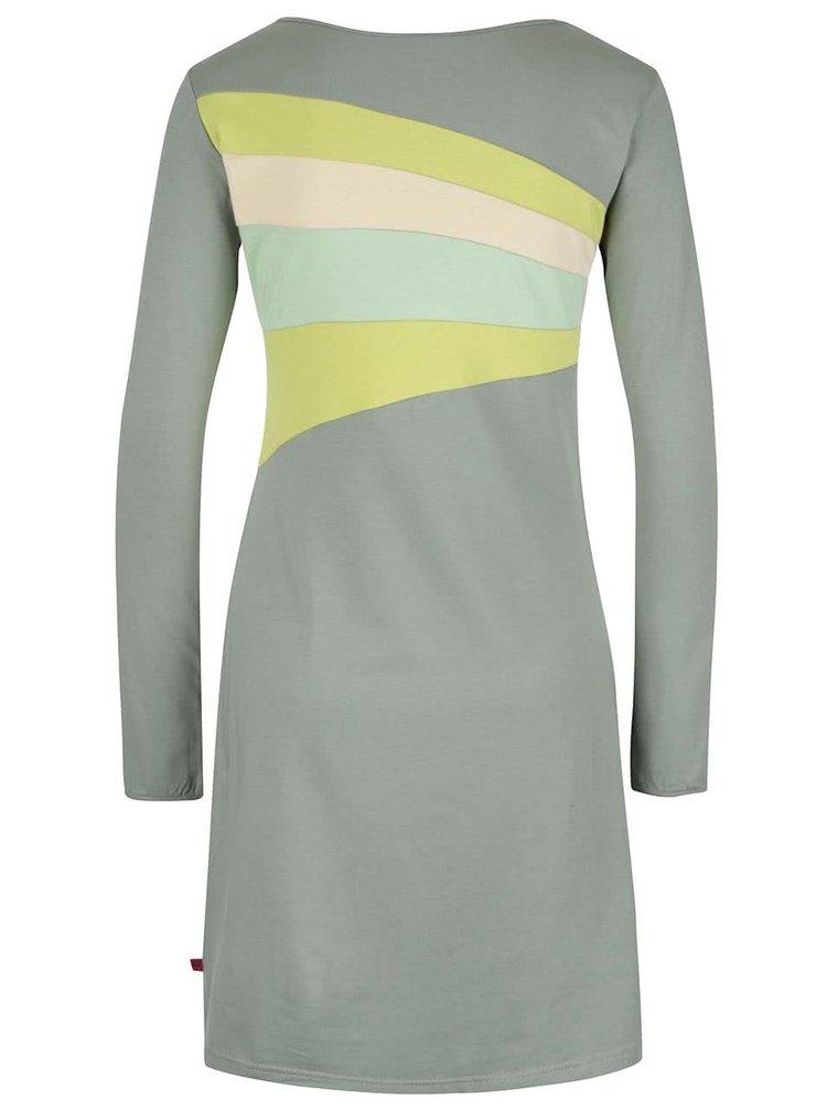 Světle zelené šaty s dlouhými rukávy Tranquillo Belmonte