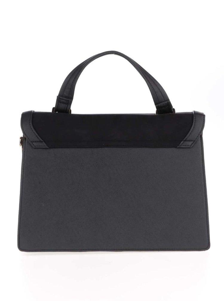 Černá menší kabelka s květovaným popruhem Dorothy Perkins