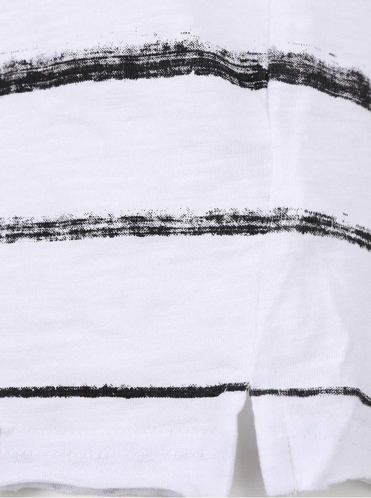 Tricou alb Shine Original cu model în dungi