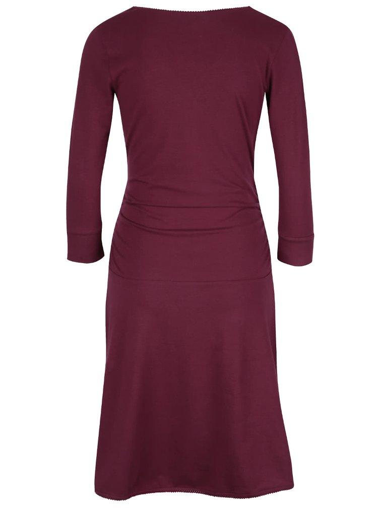 Vínové šaty s prekladaným výstrihom Tranquillo Giulia
