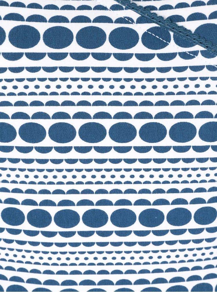 Petrolejovo-krémové tričko s prekladaným výstrihom  Tranquillo Jules