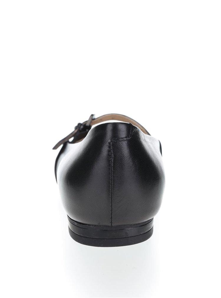 Černé kožené baleríny Geox Rhosyn B