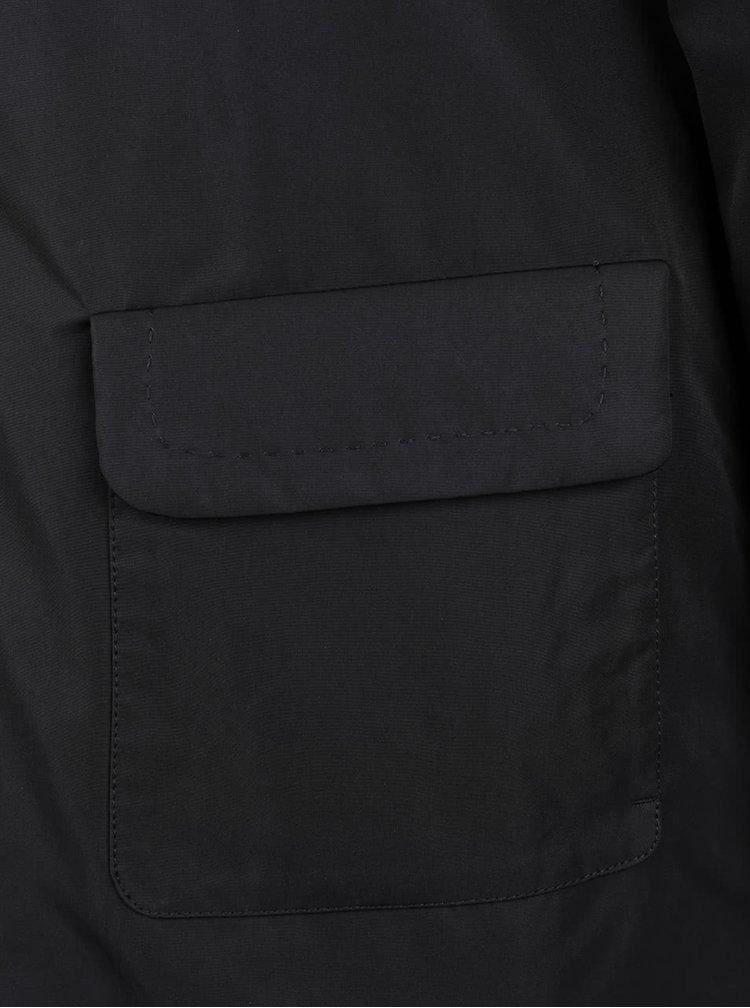 Čierny dámsky kabát s vreckami Geox