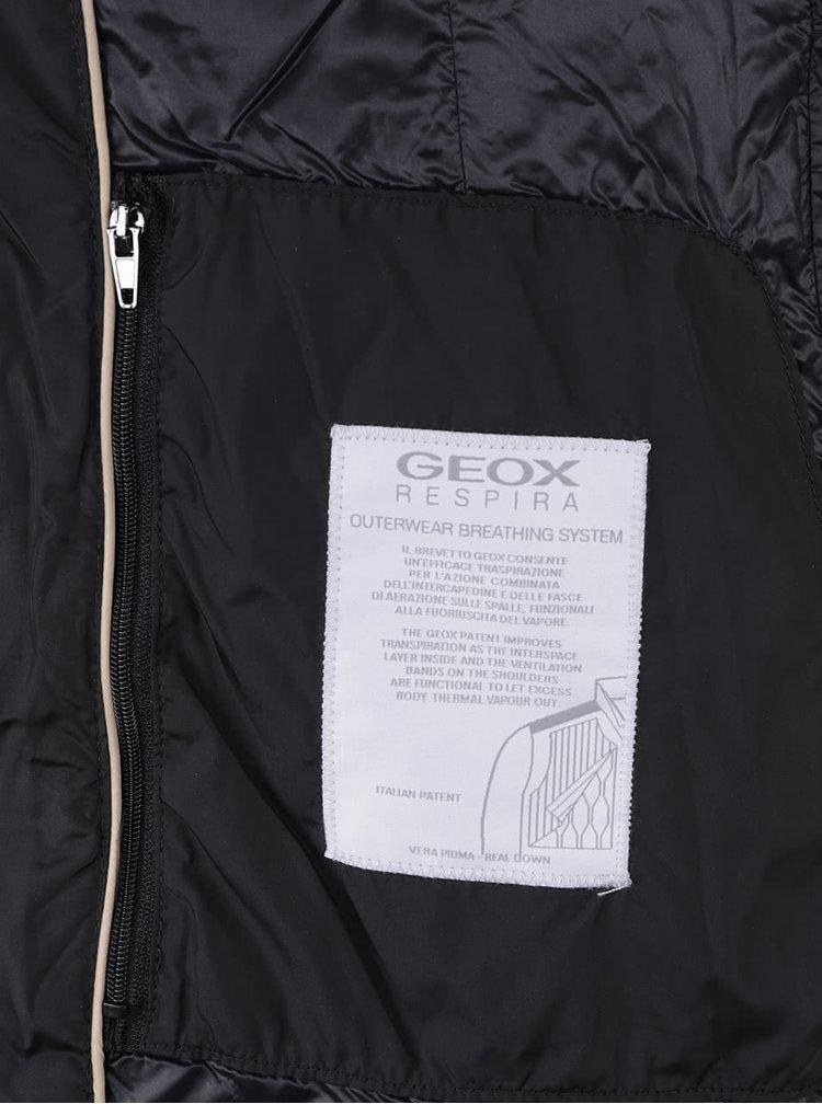 Geacă lungă matlasată Geox neagră