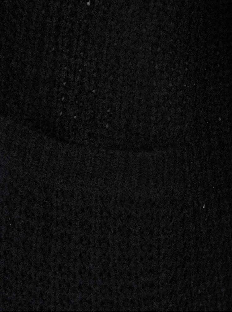 Černý dlouhý pletený kardigan ONLY Emma