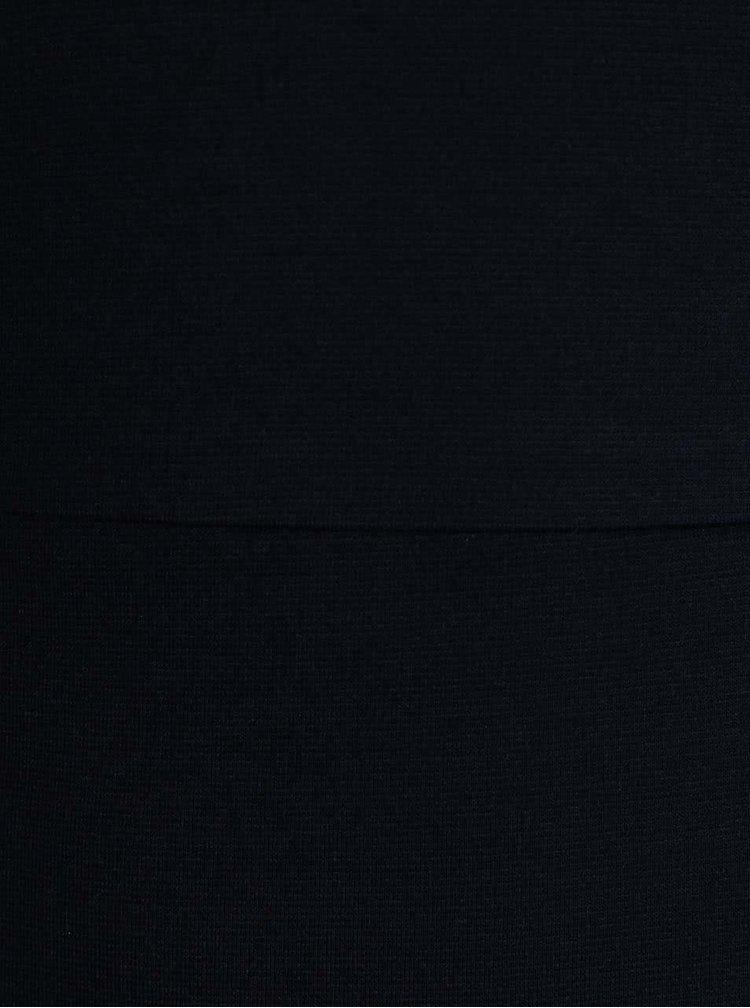 Tmavomodré úpletové šaty s 3/4 rukávmi ONLY Sandra