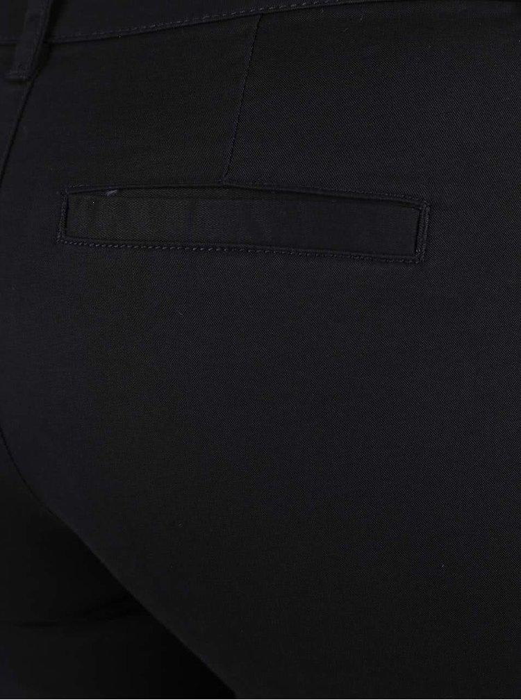 Čierne chino nohavice s opaskom ONLY Garland