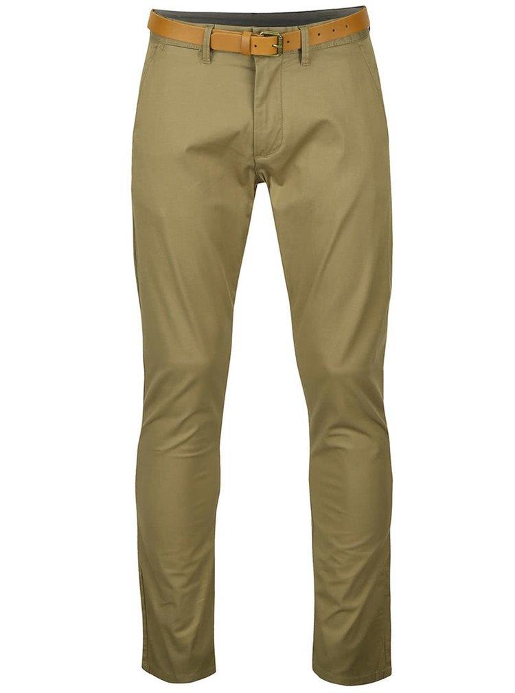 Béžové slim fit chino kalhoty Selected Homme Yard