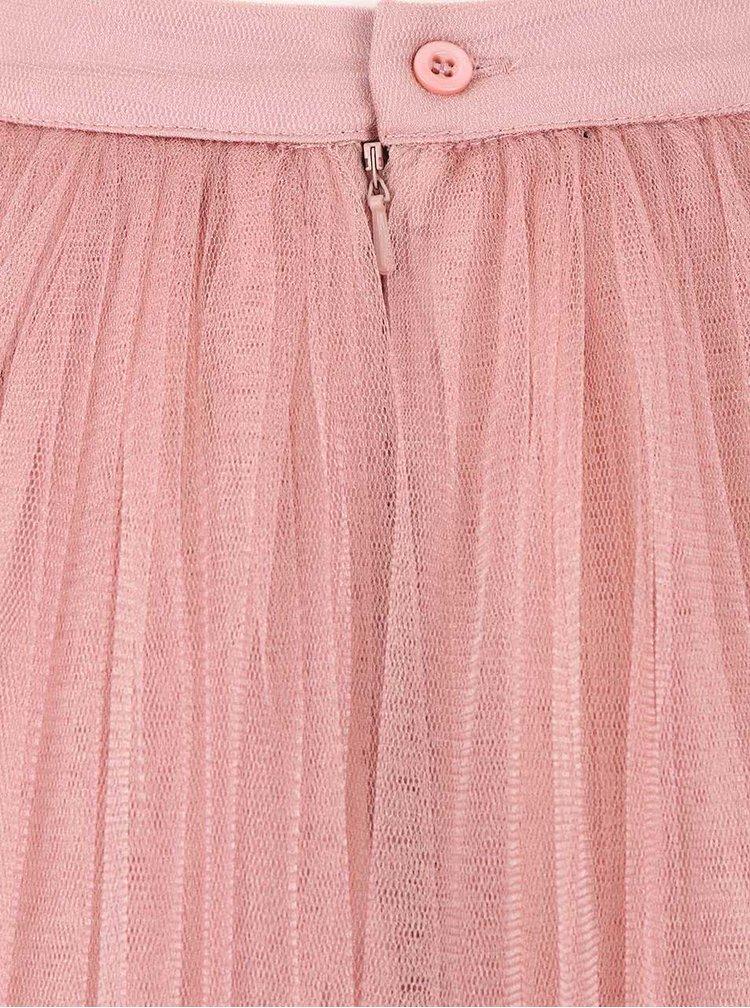 Fusta maxi roz Little Mistress din tulle
