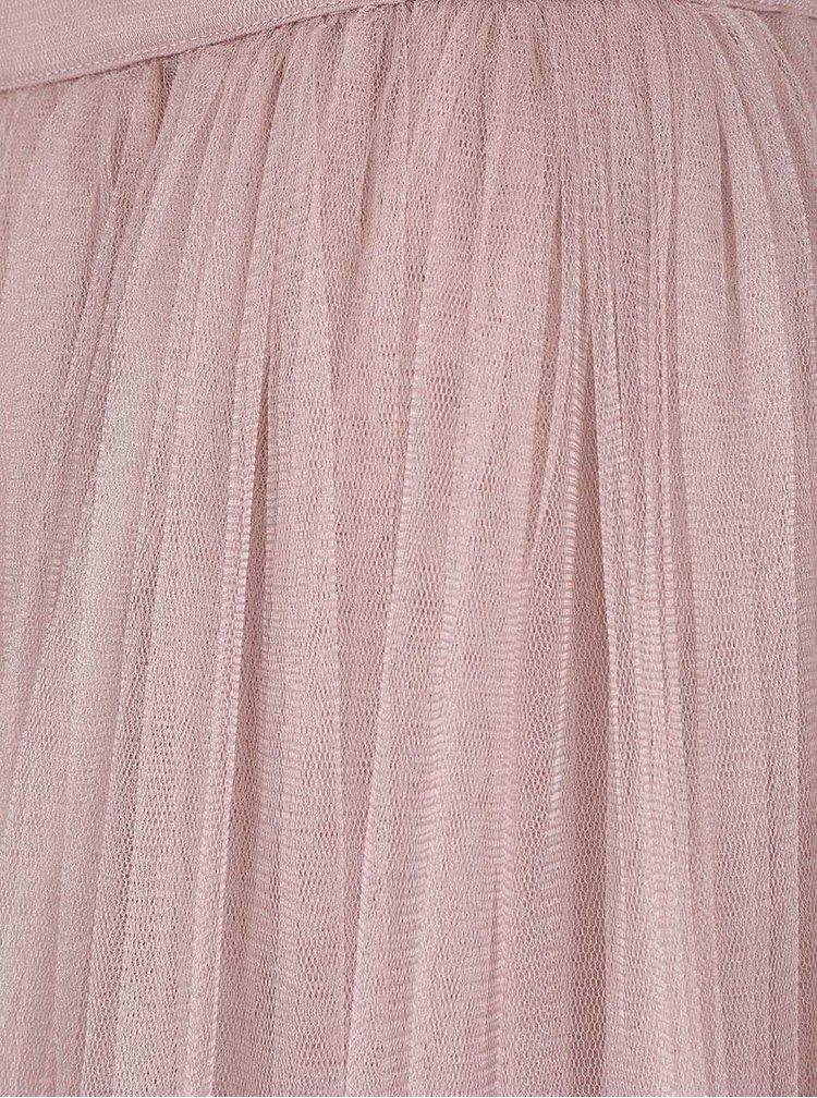 Fustă maxi roz Little Mistress din tulle