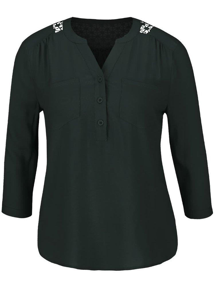 Bluza verde inchis ONLY Wonder cu maneci 3/4