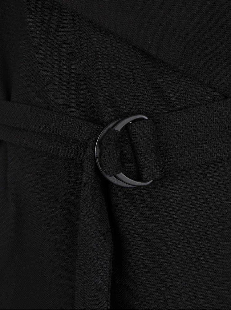 Černá delší vesta s páskem ONLY Dakota