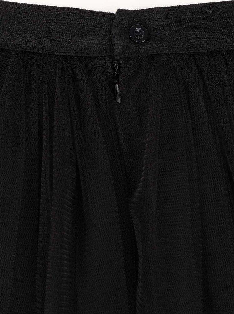 Černá tylová midi sukně Little Mistress