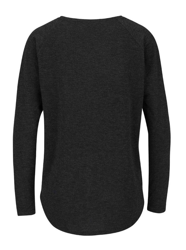 Tmavosivé žíhané tričko s dlhým rukávom ONLY Phoebe