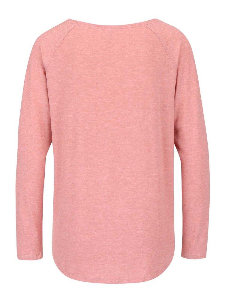Ružové žíhané tričko s dlhým rukávom ONLY Phoebe