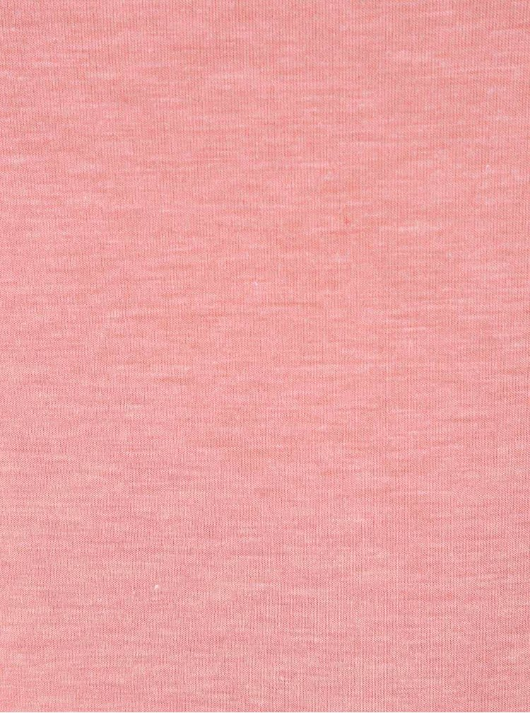 Růžové žíhané tričko s dlouhým rukávem ONLY Phoebe