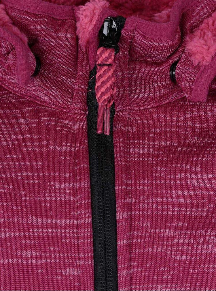 Tmavě růžová žíhaná holčičí bunda name it Beta