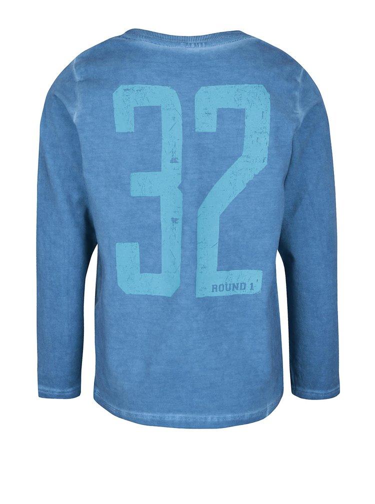Světle modré klučičí tričko s dlouhým rukávem name it Knud