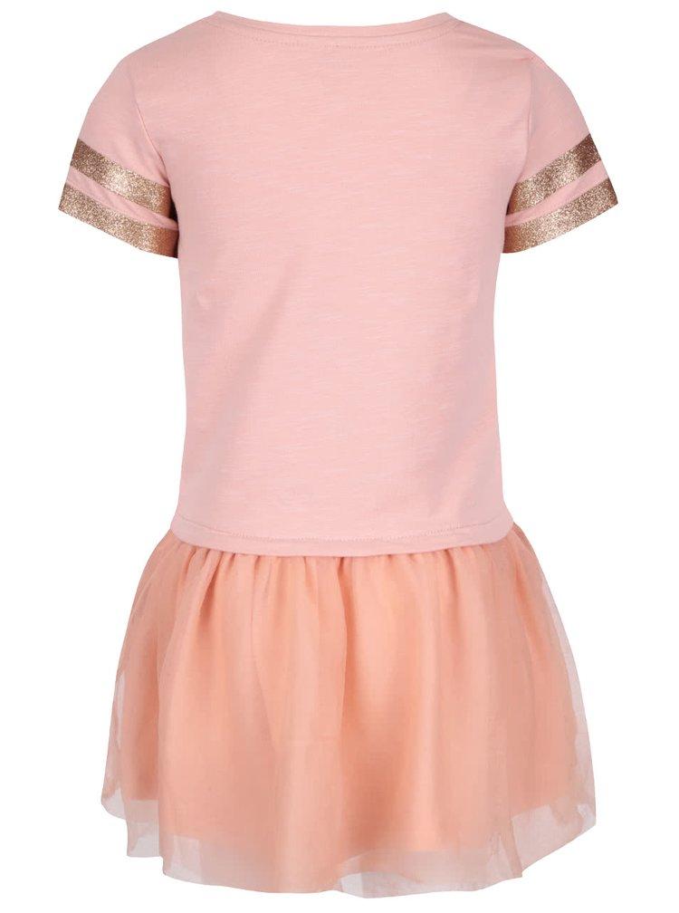 Korálové holčičí šaty name it Lathilde