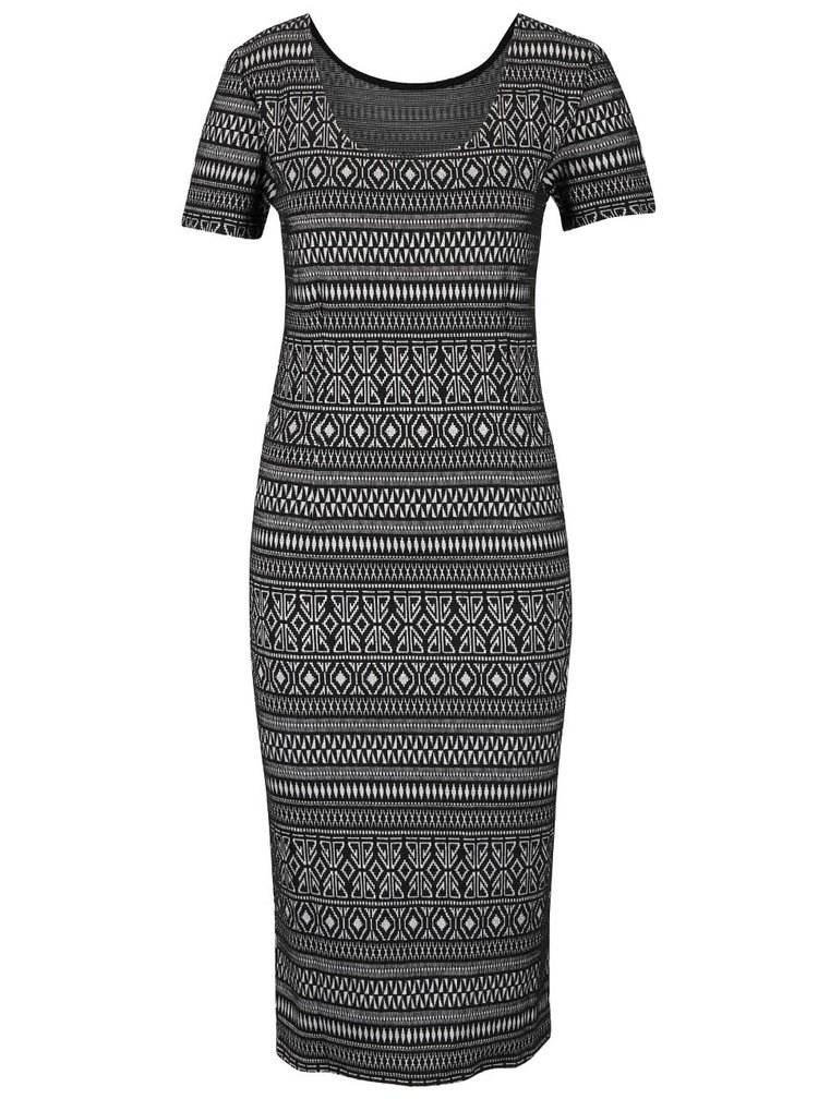 Čierne dlhé šaty so vzorom ONLY Charlene