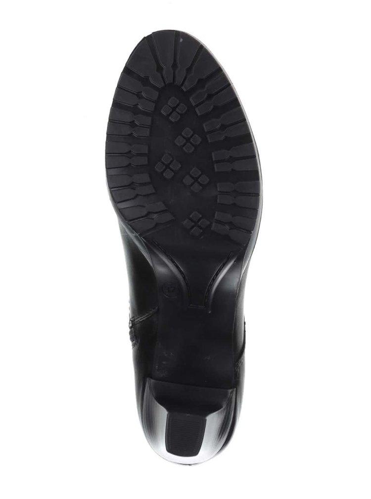 Botine negre Tamaris din piele