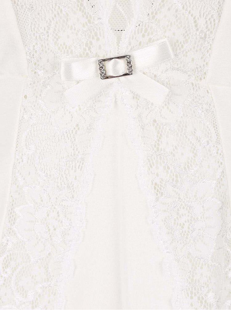 Krémová čipkovaná nočná košeľa Eldar Neva
