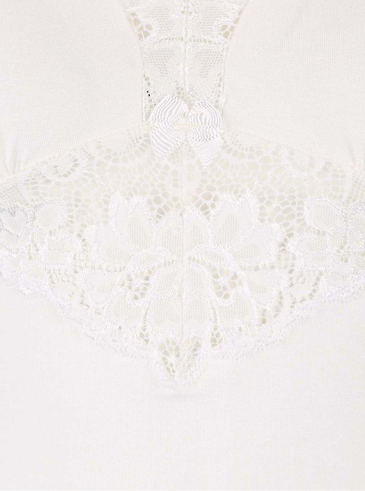 Krémová čipkovaná nočná košeľa Eldar Rossi
