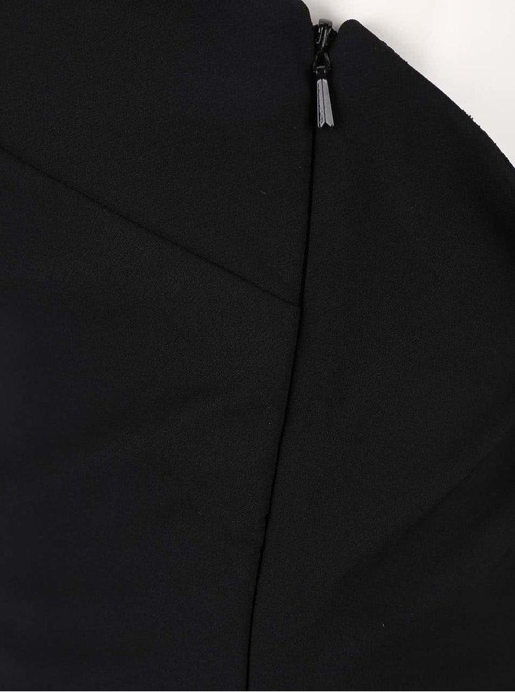 Černé šaty s hlubokým dekoltem a flitrovými detaily Little Mistress