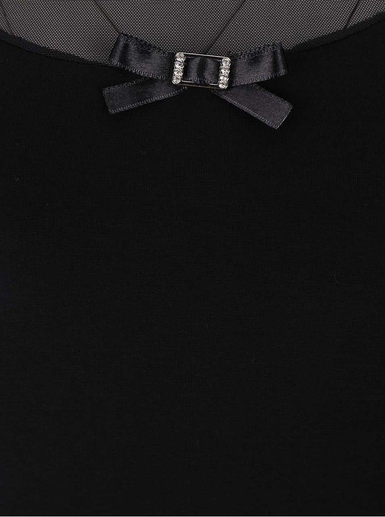 Černá noční košilka s mašličkou Eldar Lilia