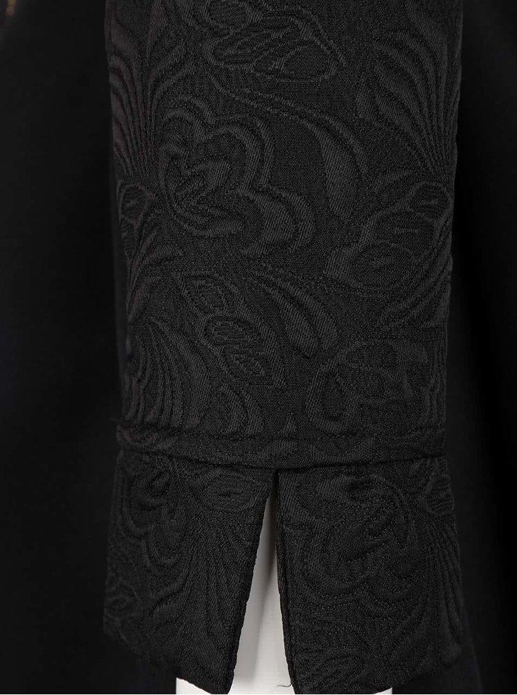 Rochie neagră Little Mistress cu mâneci lungi