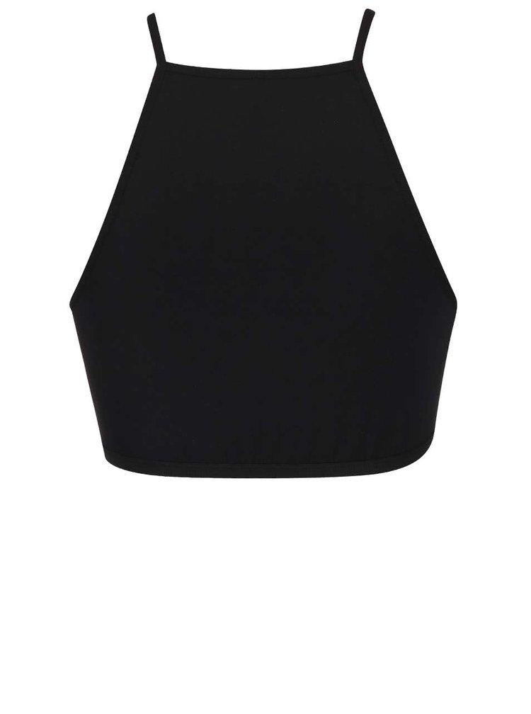 Bustieră elastică neagră Pieces Tunni