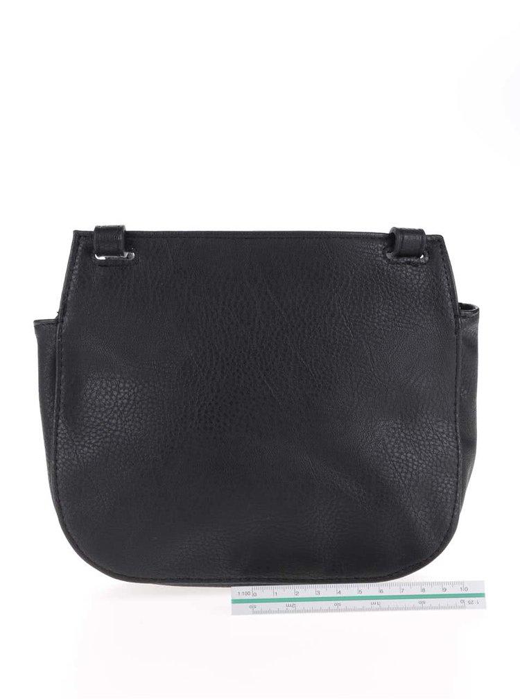 Čierna malá crossbody kabelka Pieces Panama
