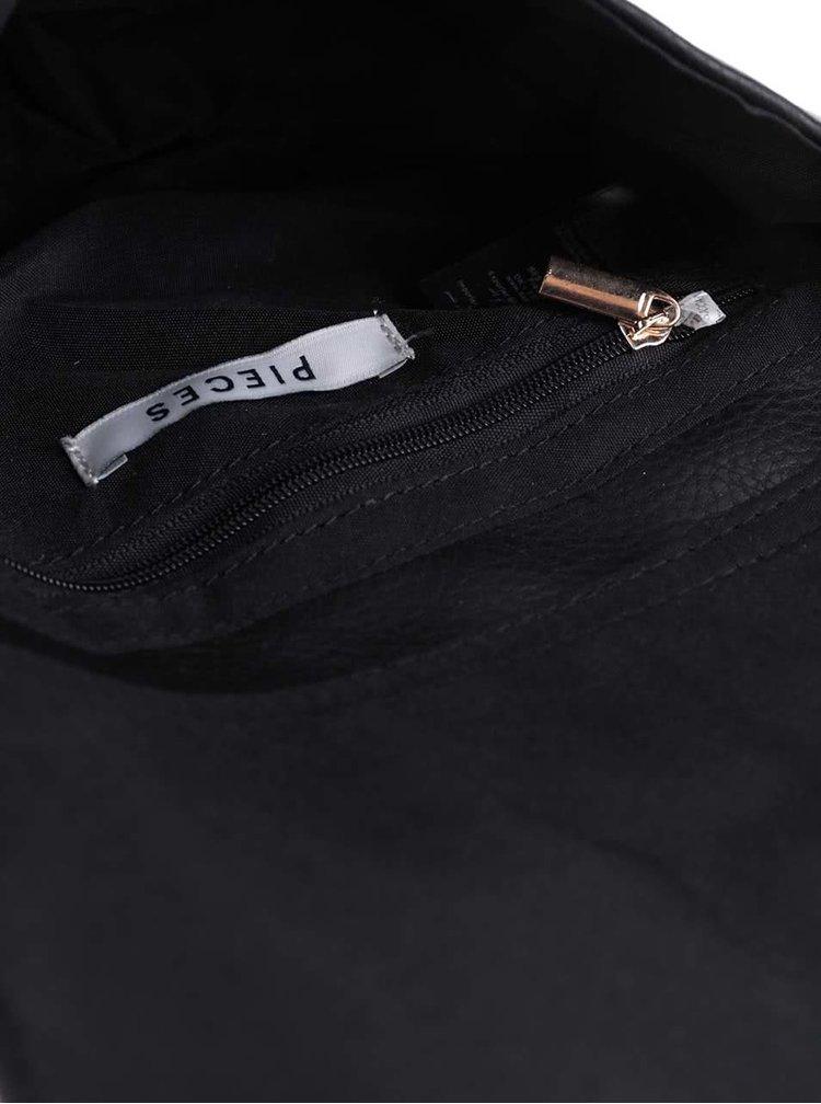 Černá malá crossbody kabelka Pieces Panama