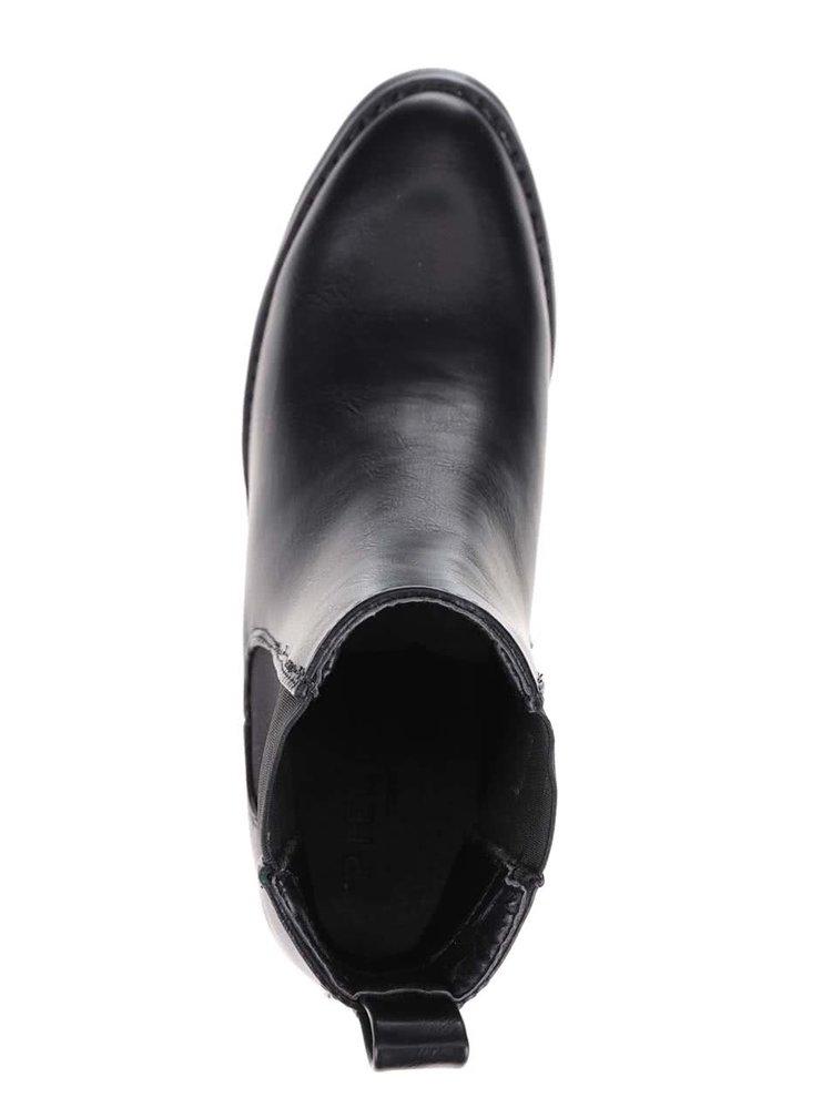 Kotníkové chelsea boty na podpatku Pieces Jona