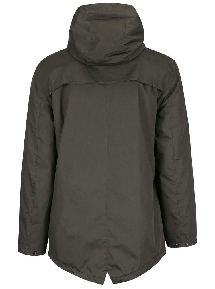 Kaki dlhšia bunda s kapucňou ONLY & SONS Osvald