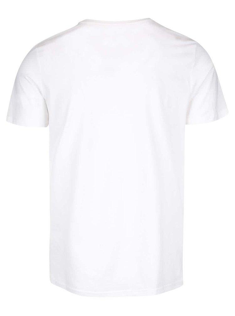 Krémové tričko s potlačou Jack & Jones Kola