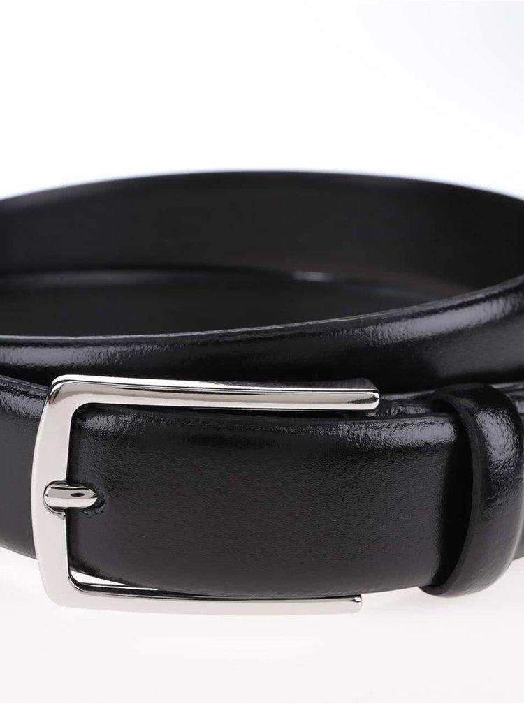 Černý kožený pásek Jack & Jones Chris