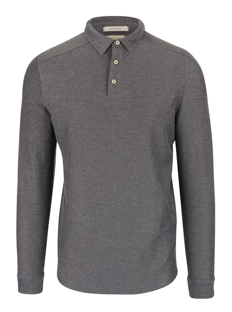 Bluza polo gri inchis Selected Homme Ralf