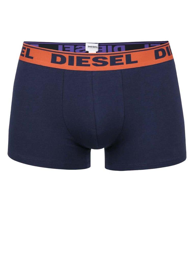 Sada dvou boxerek v modré a oranžové barvě Diesel
