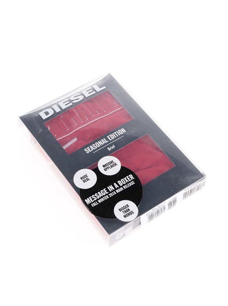 Červené slipy Diesel