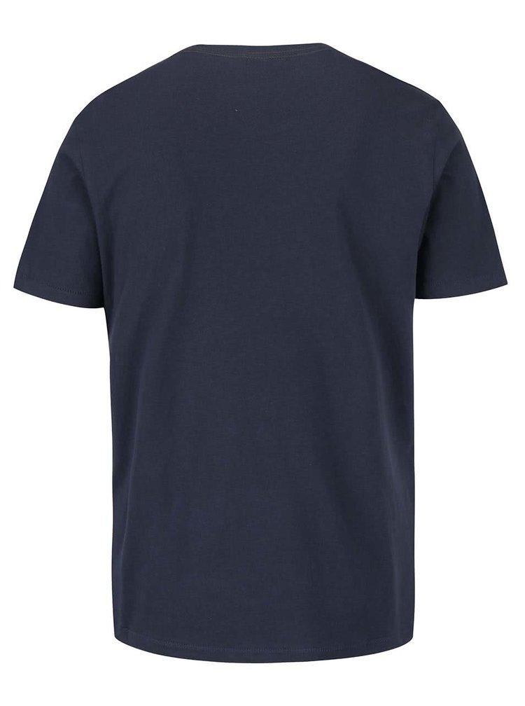 Tricou bleumarin s.Oliver din bumbac cu imprimeu