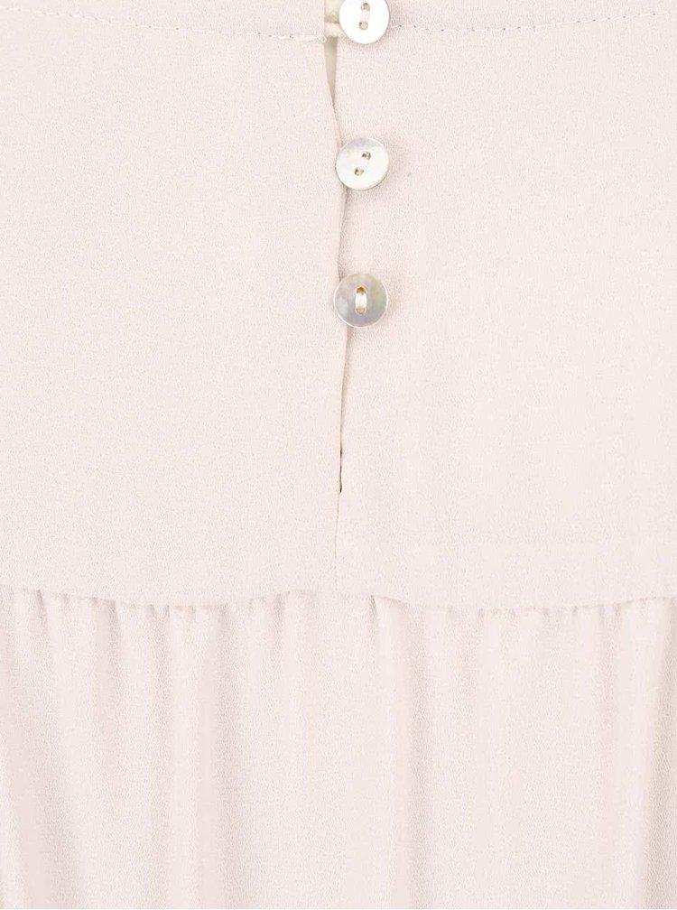 Krémovo-černé těhotenské jersey šaty Mama.licious Liv