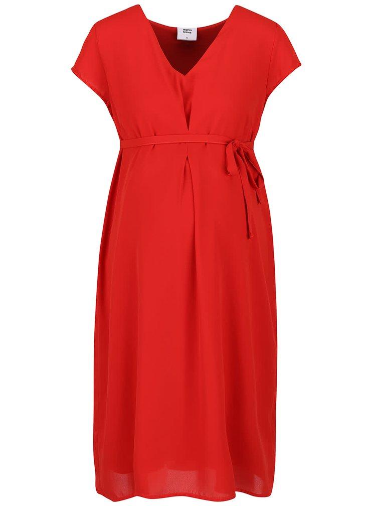 Červené tehotenské šaty Mama.licious Lisbeth