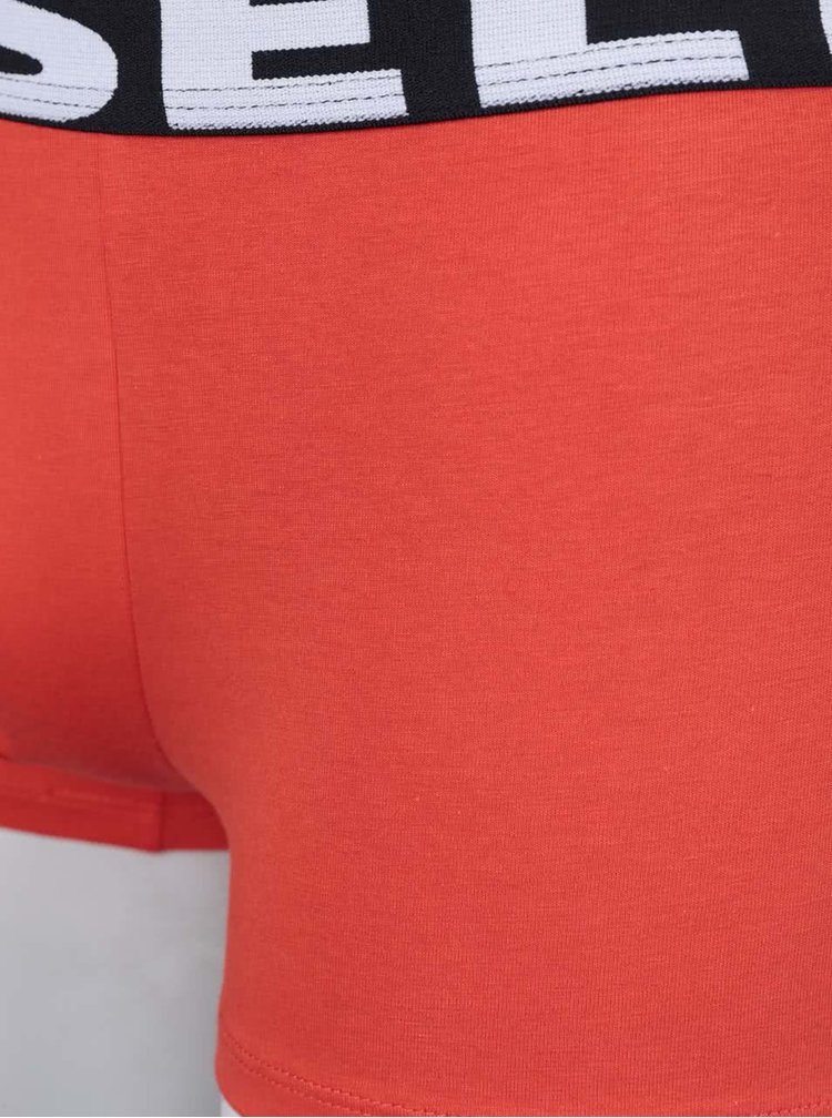 Súprava troch boxeriek v červenej, modrej a čiernej farbe Diesel