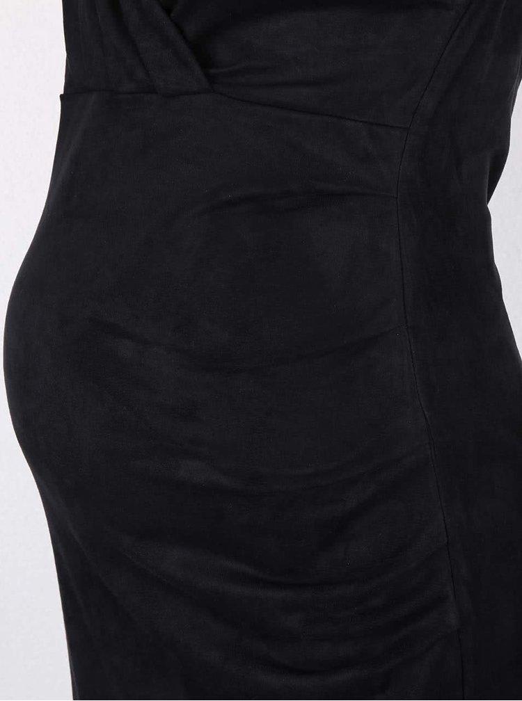 Čierne tehotenské jersey šaty Mama.licious Lumo