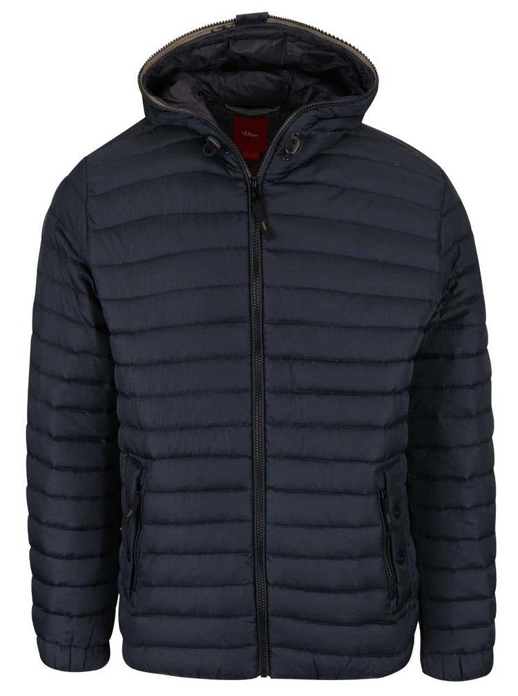 Jachetă matlasată bleumarin s.Oliver cu glugă
