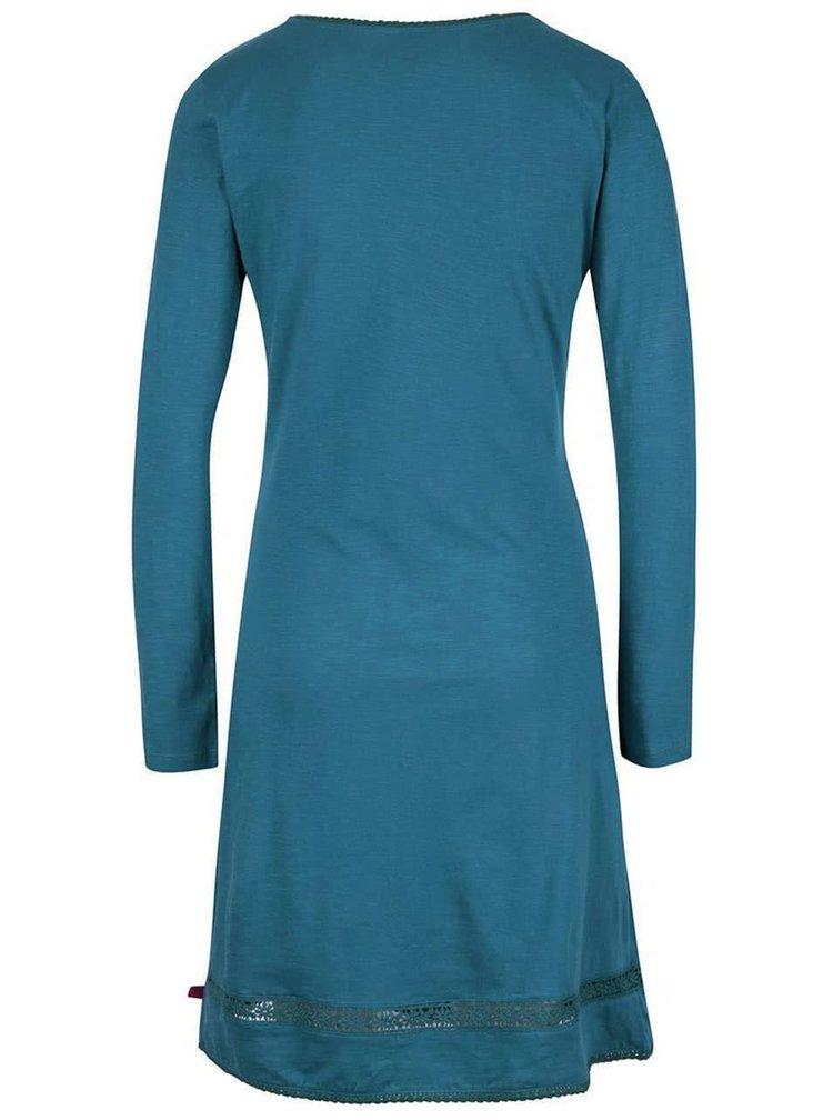 Petrolejové šaty s krajkovými detailyTranquillo Neka