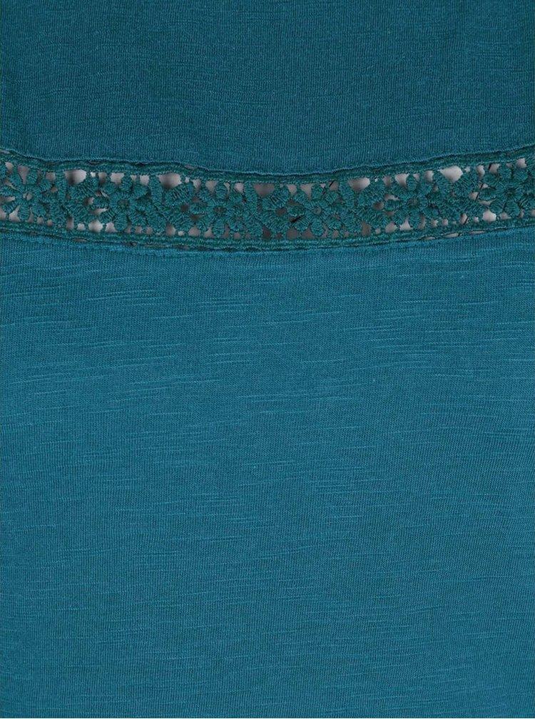 Rochie albastra Tranquillo Neka cu detalii dantela