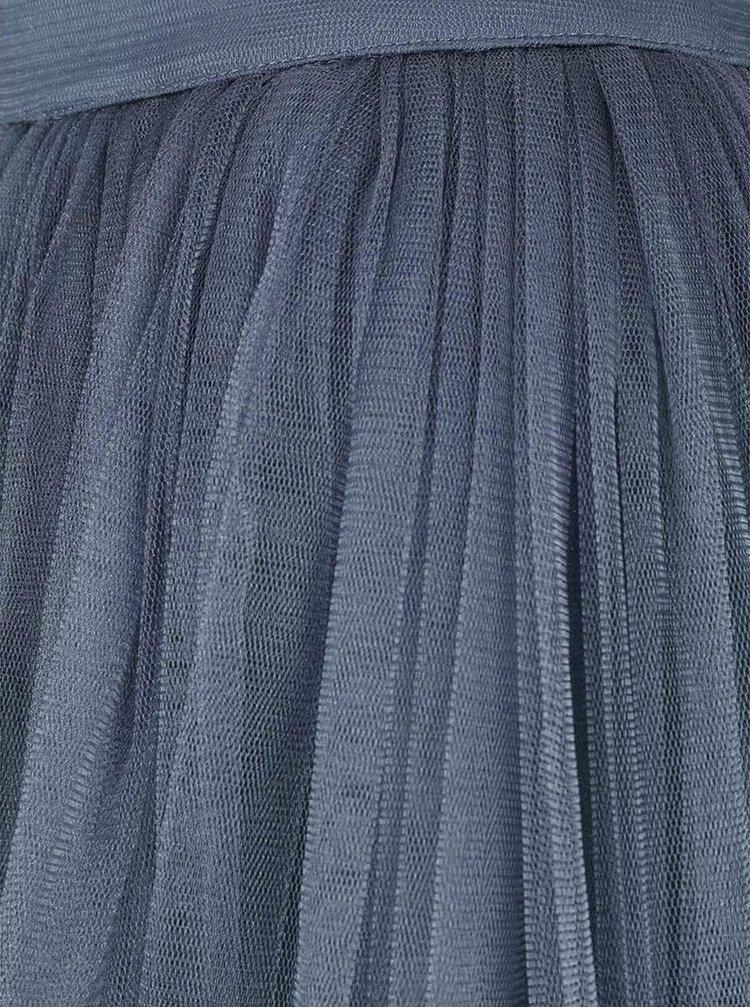Levandulová tylová midi sukně Little Mistress