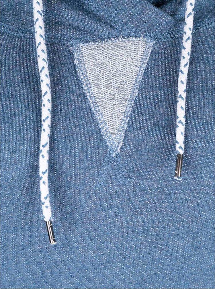 Modré žíhané mikinové šaty s kapucňou Tranquillo Sportiva